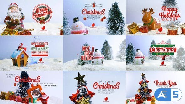 Videohive 10 Miniature Christmas Wishes 19036442