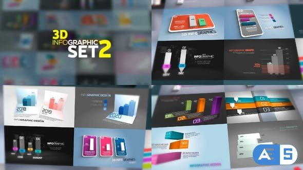 Videohive 3D Infographics Set 2 23971989