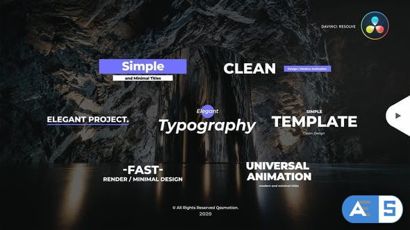 Videohive Simple and Minimal Titles Pack For DaVinci Resolve 33680791