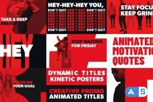 Videohive Kinetic Typography Titles for Premiere Pro 33816991