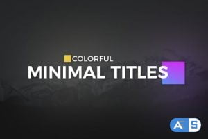 Videohive Color full Minimal Titles 19560540