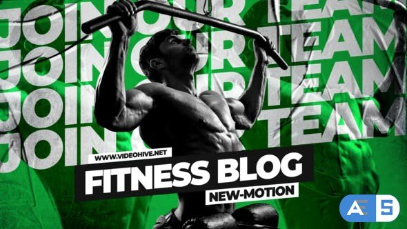 Videohive Powerful Bodybuilding Fitness Blog Intro 33818585