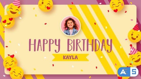 Videohive Emoji Happy Birthday 33517928