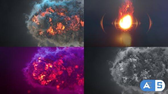 Videohive Fire Blast Logo Intro 32826516