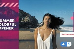 Videohive Summer Colorful Opener | After Effects Template 33594520