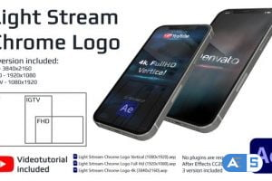 Videohive Light Stream Chrome Logo 33990720