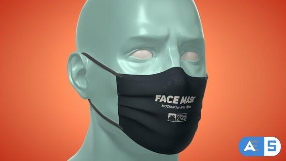 Videohive Face Mask Animated Mockup Template – Mockup Kit 33901966