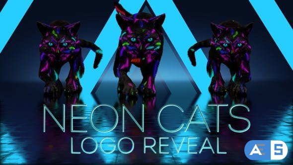 Videohive Neon Cats Logo Reveal 26778906