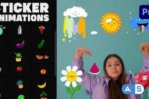 Videohive Nature Emoji Stickers Animations | Premiere Pro MOGRT 33610554
