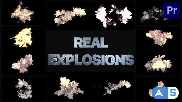 Videohive – Real Explosions   Premiere Pro MOGRT – 33635886