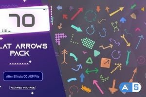 Videohive Flat Arrows Pack 33663608