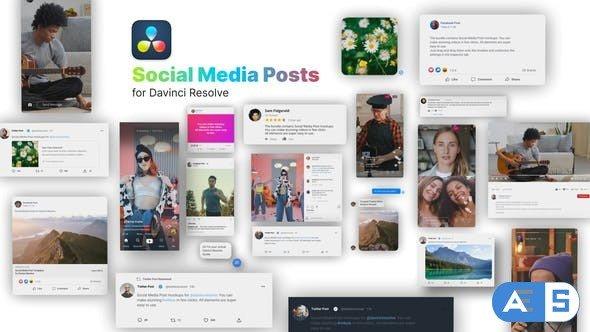 Videohive Social Media Posts for Davinci Resolve 33533285