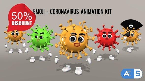 Videohive Emoji – Coronavirus Animation Kit 26635531