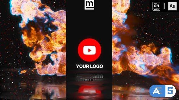 Videohive Fire Glitch Reverse Logo 33403761