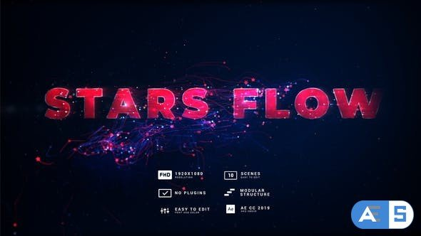 Videohive Stars Flow Event Titles 32928781