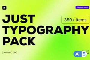 Videohive -ust Typography Pack V2 33130966