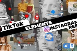Videohive TikTok&Instagram Elements 33947997