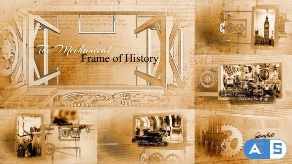 Videohive The Mechanical Frame of History 23741093