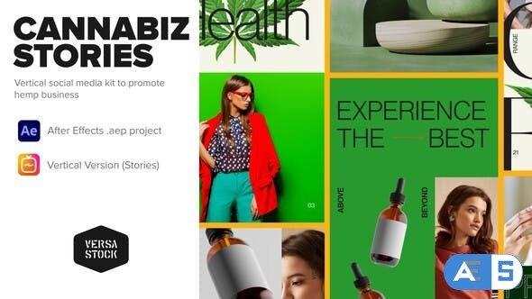 Videohive Vertical Cannabiz Hemp Product Business Stories 33961101