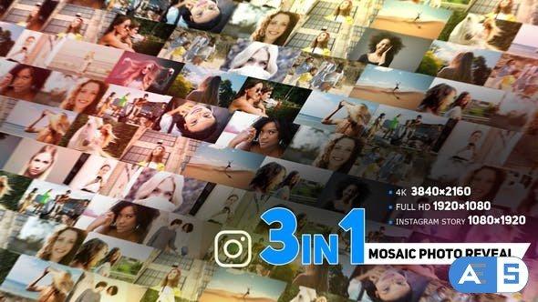 Videohive Modern Mosaic Photo Reveal 33909099