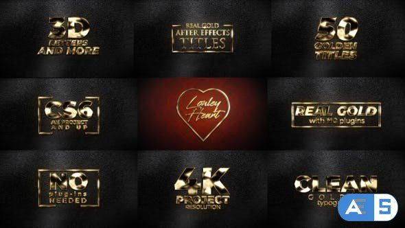 Videohive Real Gold Titles 31630147