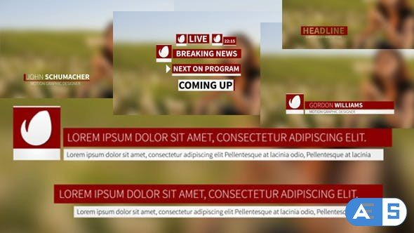 Videohive Simple Slow Lower Thirds 11608205