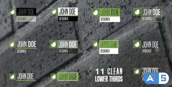 Videohive 11 Clean Lower Thirds 13704734