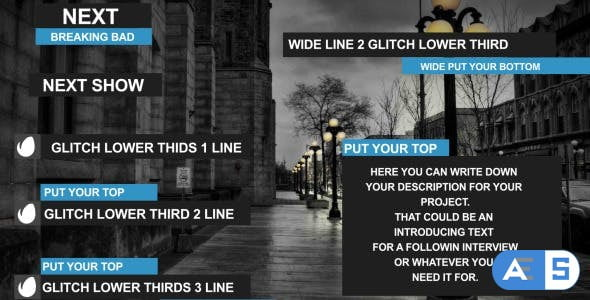 Videohive Glitch Lower Third 9334205