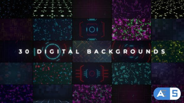 Videohive Digital Backgrounds 34370772