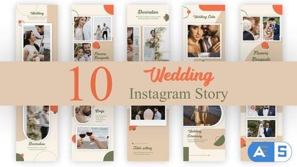 Videohive Wedding Instagram Stories Pack 34435413
