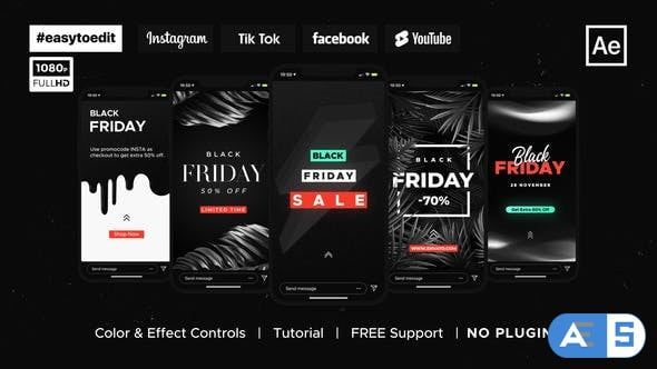 Videohive Black Friday | Stories & Posts 34419010