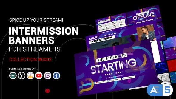 Videohive Stream Intermission Banners. Collection #0002 34130597