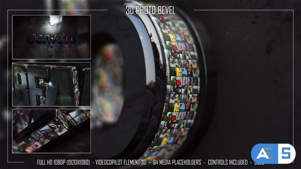 Videohive 3D Photo Bevel 34278728