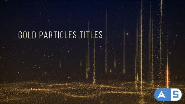 Videohive Gold Particles Titles 31513696