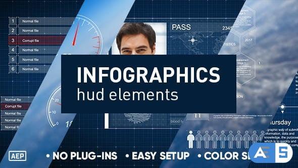 Videohive Infographics hud elements 19724786