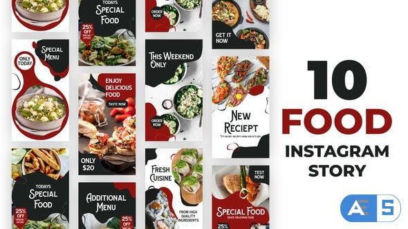 Videohive Food Liquid Style Instagram Stories 34403522