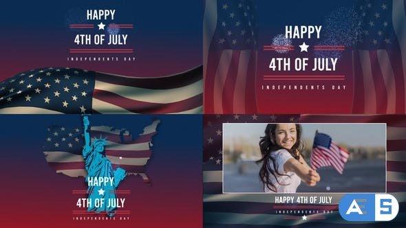 Videohive Patriotic Titles for Social Media 27531565