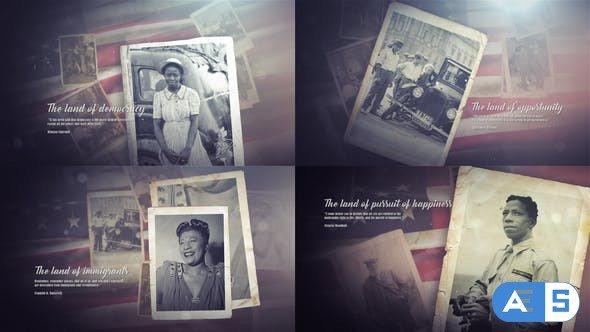 Videohive Vintage Patriotic Memories Photos & Quotes 22614201