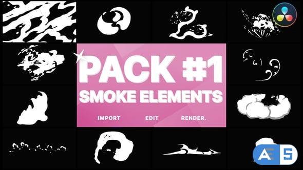 Videohive Smoke Elements Pack 01   DaVinci Resolve 33909621