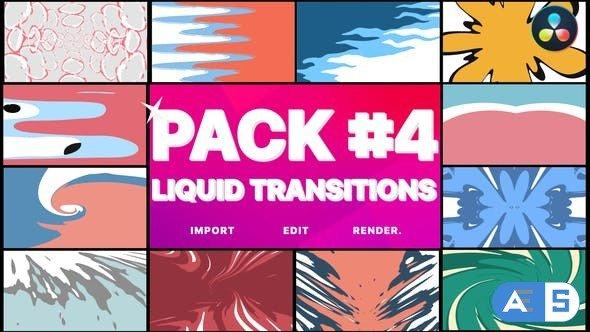 Videohive Liquid Transitions Pack 04 | DaVinci Resolve 34340087
