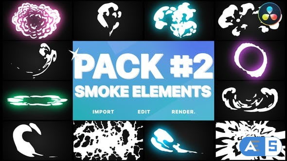 Videohive Smoke Elements Pack 02   DaVinci Resolve 34001750