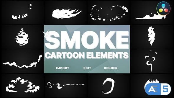 Videohive Flash FX Cartoon Smoke   DaVinci Resolve 34053788