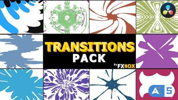 Videohive Hand Drawn Transitions Pack | DaVinci Resolve 34336451