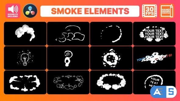 Videohive Flash FX Smoke Elements And Titles   DaVinci Resolve 34055205