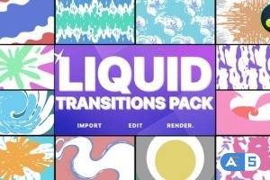 Videohive Liquid Transitions Pack | DaVinci Resolve 30956263