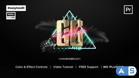 Videohive Synthwave Logo Reveal 34200773