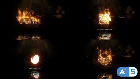 Videohive Realistic Fire Logo 2 & Universal Burning Font 20537273