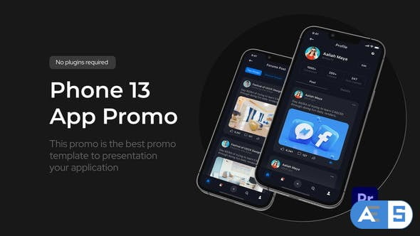 Videohive App Promo Phone 13 Pro for Premiere Pro 34424117