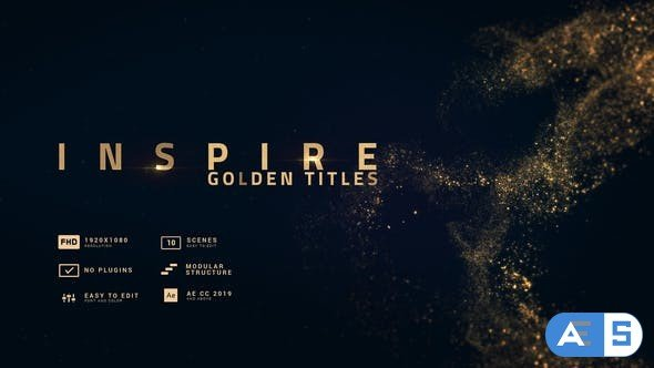 Videohive Inspire | Smooth Golden Titles 30326425
