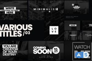 Videohive Various Titles 03 34127025